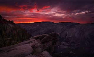 Summer Embers At Glacier Point