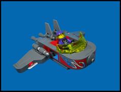 'Ace of Spades' (Karf Oohlu) Tags: moc lego minifig ace aceofspades skyfi skycar flyingcar purple