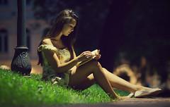 Girl in the night (Pavel Valchev) Tags: samyang night sofia bulgaria rokinon 85 mf peaking bokeh lens portrait girl