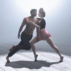 { Pulse } (Trinetty Skytower) Tags: sl secondlife avatar digital virtual photograhy pose ooostudio danceday arts dance movement slink maitreya addams epiphany truth laq couples nomad