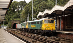 86608 & 86627 Ipswich 20/08/2016 (Flash_3939) Tags: 86608 86627 class86 electric locomotive pair double headed freightliner intermodal container freight railfreight ipswich station geml greateasternmainline angliaplusrover rail railway train uk august 2016