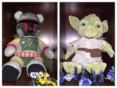 The New Guard (geekknot) Tags: yoda bobafett buildabear starwars bear indoor photoborder 365