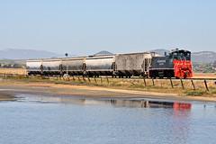 Brazos Climb (caltrain927) Tags: northwestern pacific nwp grain empty hopper car local freight emd mp15dc mp15 california ca shortline railway railroad brazos napa