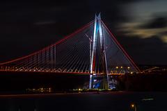 DSC03467-2 (UmitCukurel) Tags: bridge turkey istanbul bosphorus sony nikon lightroom d750 sonyalpha bogazici kopru night poyrazkoy battleship gemi sky sunset dusk gunbatimi cloud