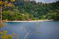 The Beach (Collin Key) Tags: beach ocean travel sulawesi lestari forest malenge boat togianislands indonesia tropical sea idn