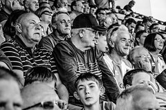 At the Rovers (sophie_merlo) Tags: candid bw street streetphotography crowd fans sport sports football soccer stadium people mono monochrome blackandwhite watching bristol bristolrovers