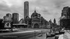 Flinders Street Station, Melbourne (trevorjphotography) Tags: flindersstreetstation traffic people blurry invisible longexposure le ndfilter neutraldensityfilter fotga melbourne victoria australia heritage famous classic iconic street intersection cars landscape eurekatower cloudy canoneos5dmarkii ef1740mmf4lusm cityscape wideanglelens overcast highcontrast timeless historical trainstation daytimelongexposure traffictrail blur