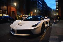 Satin White (SupercarsofBC) Tags: ferrari laferrari satin white wrap limited v12 hybrid engine carbon fibre harrods knightsbridge london united kingdom england 2016 sbc