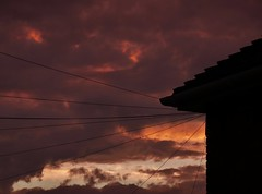 Wired (Compactman) Tags: wires telephone sunset clouds cloudporn sky panasonic lumix g7 rooftop