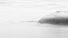 This Long Silence (John Westrock) Tags: landscape blackandwhite fog foggy longexposure deceptionpass washington pacificnorthwest canoneos5dmarkiii canon135mmf2lusm bwnd1000x