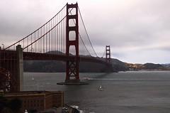 Golden gate (francescariccardi) Tags: goldengate bridge california cloudy foggy ocean sailing boat windy cold usa nikon italianphotographer architecture landscape
