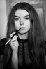 Fragile Noblesse (dmikulasova) Tags: nikon nikond5100 me myself selfportrait portrait person girl woman lady elegant classy cigarette holder cigaretteholder smoking black nobleness blackandwhite bw 50mm dark