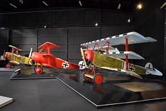 Fokker Triplane replicas in the colours of Aces (GJC1) Tags: knightsofthesky greatwar omakaaviationheritagecentre newzealand geoffcollins gjc1 ww1 world war 1 fokkertriplane dr1 dridekker