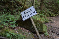 (sagemarquardt) Tags: nature hockinghills caves closed area forest grass green mossy moss