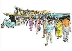 Street Colour (Thisisanwar) Tags: anwar artist cartoonist illustrator india hyderabad nandyal noonepalli telugucartoonist teluguillustrator telugubomma bapu bali chandra gopi mohan sketchingartist linedrawing sketchbook howtodraw