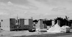 Construction-Fuji X-PRO2 (Preskon) Tags: nature palms wires cementblocks sand cement capehazefl