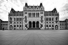 Rules and Rulers (chris.ph) Tags: architecture parliamentbuildings budapest hungary blackandwhite sky clouds leadinglines canon6d ef1635mmf4lisusm