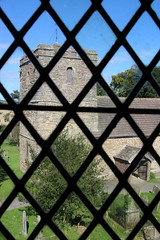 IMG_2251 Stokesay Church taken from inside Stokesay Castle (janetucker16) Tags: history churches days out shropshire stokesay