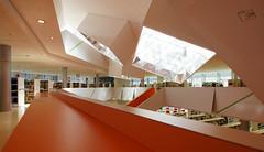 orange architecture (delopafoto) Tags: architecture augsburg architektur public library stadtbcherei delopafoto