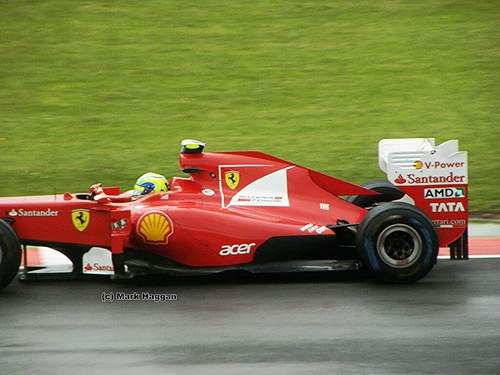 Felipe Massa in his Ferrari F1 car at the 2011 British Grand Prix at Silverstone