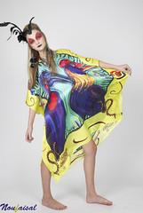 IMG_64061 copy (Noufaisal) Tags: bird fashion yellow photography women colours dress feather silk makeup faisal nouf