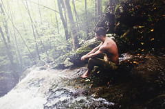 When we were young (Andrea Peipe) Tags: man bavaria waterfall sitting stefanheider