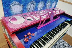 Alice in Wonderland Piano - Tea Party (heathermariecarr) Tags: streetart painting underground paint tea alice piano queen caterpillar publicart madhatter teaparty aliceinwonderland