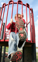 Big Foot (jacknalfiesmum) Tags: boy game childhood foot shoe climb healthy infant child play pointofview health activity trainer active physical physicalactivity