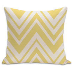 Chevron Organic Pillow in Bright Yellow and Natural 18x18 (PURE Inspired Design) Tags: customfurniture organicfabric ecofriendlyfurniture woolrugs
