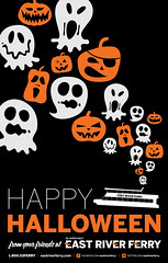 East River Ferry Halloween Poster (McMillianCo) Tags: orange black halloween ferry brooklyn poster graphicdesign pumpkins ghosts eastriverferry mcmillianfurlow brooklyngraphicdesign lindsaygiuffrida