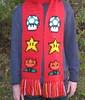 Power-ups scarf (red) (doctormoo) Tags: winter mushroom scarf star hand handmade crafts crochet nintendo sprite mario nes 1up mariobros supermario fireflower invincibilitystar powerups