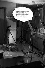 Setup for Burial (Zack Ahern) Tags: white canon 5d setup lightening zack gel ahern markii canon580ex strobist jrx radiopopper