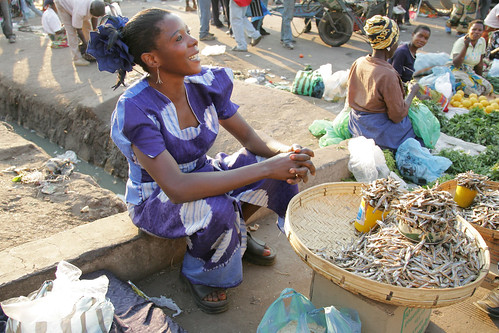 Fish trader in Lusaka, Zambia. Photo by Stevie Mann, 2007.
