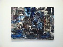 IMG_7181 (joshdudley1) Tags: new york nyc blue abstract art painting chelsea gallery read louise expressionist palette fishman cheim pthalocyanine