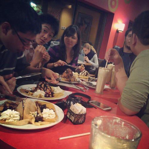 Saturday night desserts with friends!