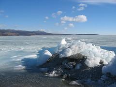Ice on Khovsgol lake in Mongolia (mbphillips) Tags: nomad ice モンゴル 몽골 蒙古 asia アジア 아시아 亚洲 亞洲 mbphillips canonixus400 lake 호수 湖 lago geotagged photojournalism photojournalist mongolia 몽골리아 mongolie