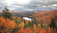 Mont Tremblant 7 (gsamie) Tags: autumn trees sky orange lake canada fall nature colors clouds forest canon landscape woods quebec monttremblant laurentides t3i 600d gsamie guillaumesamie
