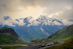 Grossglockner High Alpine Road - Austria (Dragos Cosmin- Getty Images Artist) Tags: road travel blue summer sky mountain snow alps green tourism nature beautiful beauty grass rock horizontal clouds rural way season landscape freedom austria countryside nationalpark high scenery outdoor background hill extreme transport perspective meadow peak sunny route alpine transportation asphalt majestic range grossglockner tauern