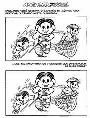 Passatempo Jogo dos 7 erros com a Mônica! (Atividades Educação Infantil) Tags: passatempos turmadamônica jogodos7erros