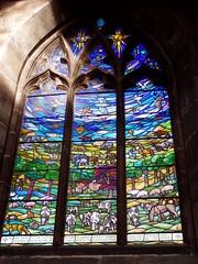 The Creation window - Nov 2009 (DizDiz) Tags: cheshire stmaryschurch nantwich olympusc720uz waynemolyneux michaelfarrarbell