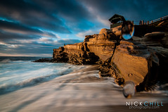 Water Spots (Nick Chill Photography) Tags: california sunset beach photography nikon waves pacific sandiego fineart scenic lajollacove stockimage d300s tokina1116mm nickchill