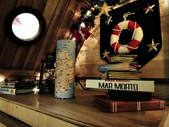 nautical dreams (living in neverland) Tags: sea marina star mar maps estrela vela mapa morto lamparina marmorto