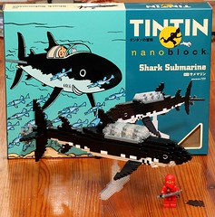 Nanoblock The adventures of Tintin: Secret of the Unicorn shark submarine (Elbk) Tags: japan toy lego tintin nanoblock