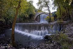 Palaiokaria (kzappaster) Tags: longexposure bridge samsung fisheye greece waterfalls 8mm stonebridge trikala thessaly samyang mirrorless nx100 palaiokaria 8mmf28 samsungnx samsungnx100 compactsystemcamera samyang8mmf28umcfisheye