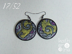 17/52 (Art Studio Katherine) Tags: charity love serbia joy polymerclay help earrings nena subotica srbija nevenkasabo ankehumpert 52pairsofearrings