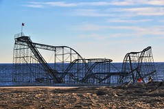 Jet Star Roller Coaster in the Atlantic Ocean, Seaside Heights, NJ (Forsaken Fotos) Tags: ocean beach decay destruction urbandecay hurricane nj destroyed seasideheights 2013 flickraward 2012hurricane hurricanesandy jetstarrollercoasterintheatlanticocean oceansideheights