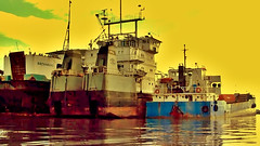 Ships at Navotas Fishport (*Irvine*) Tags: ocean voyage trip travel bridge cruise pink blue sea two ferry port four harbor pier dock asia sailing ship pacific chief philippines dry vessel cargo deck crew journey manila anchor cebu sail trips pax passenger arrival hull bacolod southeast docked departure region ferries engineer freight regional funnel roro dagat iloilo nn docking voyages zamboanga ncr tagbilaran surigao seaman maneuver barko navotas superferry tondo aboitiz 2go lakbay biyahe