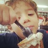 Bernardo (brabul) Tags: people kids portraits children close eating spoon desserts delicious icecream crianças sorvete colher comendo flocos derramando cairu