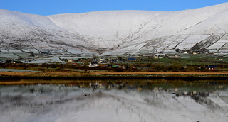 Snow on Mountains in Dingle