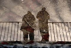 Roma (Gaetano Pezzella) Tags: road street people italy rome roma art water rain reflections europa europe strada italia gente via fantasy neve astratto acqua riflessi pioggia lazio abstracted